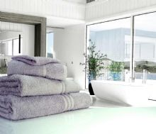 Great Quality Blue Label, 500gsm Bath Towel in Silver Grey